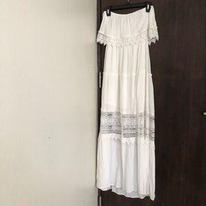 (FOREVER 21) maxi strapless white dress